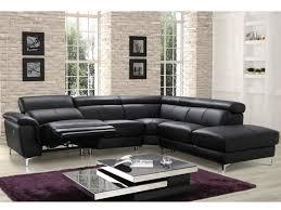 canape cuir angle canapé angle relax électrique en cuir noir sitia