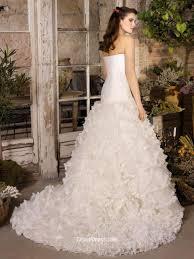 Wedding Skirt Strapless Drop Waist Wedding Gown With Cascading Tulle Skirt