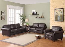 Black Sofa Living Room Decor Ideas For Living Room With Brown Leather Furniture Home