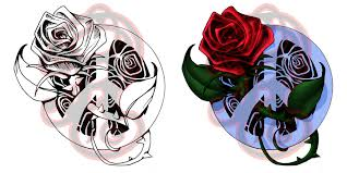 peace rose tattoo design by ladywildrose on deviantart