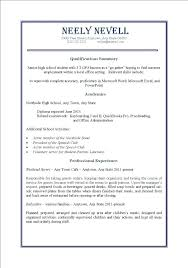 resume for part time job high student marvelous part time job resumes exles about part time job