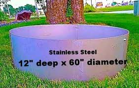 Fire Pit Liner by Online Store Round Stainless Steel Fire Pit Liner Campfire Ring
