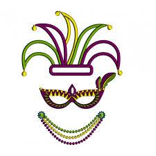 mardi gras embroidery designs gras jester hat and applique machine embroidery design
