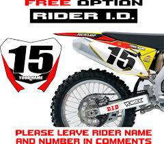 motocross bike numbers 2004 2006 suzuki rmz 250 graphics kit decals stickers rmz250