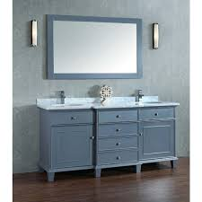 Stufurhome Cadence Grey  Inch Double Sink Bathroom Vanity With - Pictures of bathroom sinks and vanities 2