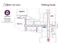 walking guide merle hay mall