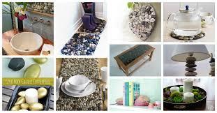diy ways to use river stones in home decor
