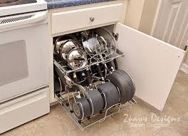 Organizing Pots And Pans In Kitchen Cabinets Kitchen Pots And Pans Organizer 2paws Designs