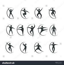 set sports dancing symbols vector stock vector 454088809