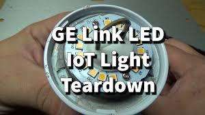 ge link light bulb ge link wink led light iot lightbulb teardown youtube