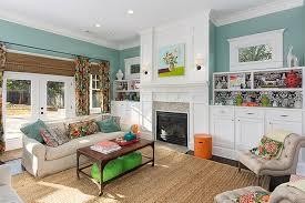 blue and lavender living room design transitional living room