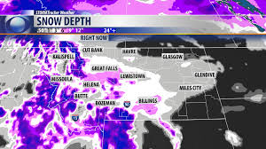 United States Snow Cover Map by Blog Snowfall Forecast Success Krtv News In Great Falls Montana