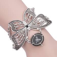 titanium bracelet watches images Hot sale classic retro black titanium silver women quartz wrist jpg