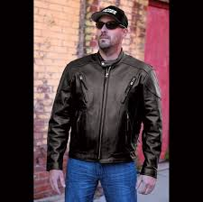 motorcycle jackets for men interstate men u0027s jax touring black leather jacket 120 047 j u0026p