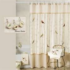 Curtains Birds Theme Bath Shower Curtains And Shower Curtain Hooks Touch Of Class
