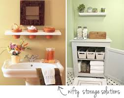 Space Saving Ideas For Small Bathrooms Small Bathroom Storage Ideas Pinterest Bathroom Small Bathroom