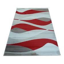 Red Rug Red Sincerity Modern Contour Rug Carpet Runners Uk