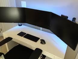 gaming setup ideas black white battlestation by blackwhite01 on reddit design