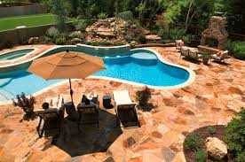the most beautiful stone swimming pool deck design ideas