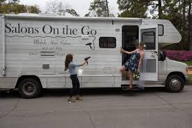a mobile hair salon conveniently located where the client is