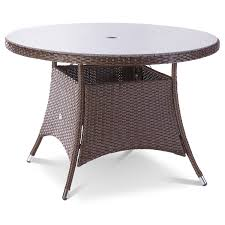 Round Wooden Outdoor Table Garden Furniture Varnish Exterior Timber Furniture Using Wattyl