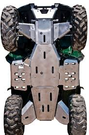 10 piece complete aluminum skid plate set yamaha grizzly 700