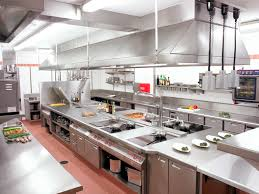 delighful restaurant kitchen hoods stainless steel sliver low