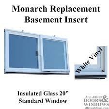 Replacing A Basement Window by Monarch Replacement Basement Window Insulated Basement Sliding