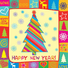new year photo card happy new year greeting card vector illustration free vector