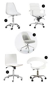Swivel Office Chairs by Modern White U0026 Acrylic Swivel Desk Chairs A Feteful Life