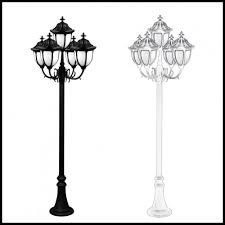 Outdoor Light Post Fixtures by 120v Powder Coated Cast Aluminum Old Time Outdoor Lamp Post 5