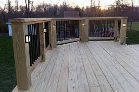 Patio Post Lights 120 Volt Deck Post Lights Deck Design And Ideas