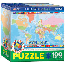 Maps For Kids Amazon Com Eurographics World Map For Kids Jigsaw Puzzle 100