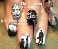 robin moses nail art halloween mike myers nail art