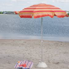 Beach Shade Umbrella Orange Striped Patio Umbrella Patio Decoration