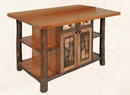 hickory kitchen island hickory kitchen island with northwoods accents lodge craft