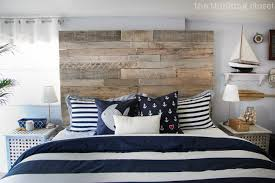 nautical headboards nautical master bedroom makeover how we found our shared style