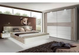 Schlafzimmer Hochglanz Braun Schlafzimmer Mit Bett 180 X 200 Cm Sandeiche Weiss Hochglanz
