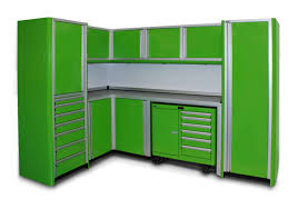 Metal Cabinets For Garage Storage by Green Metal Storage Cabinet With Drawers And Doors For Garage Of