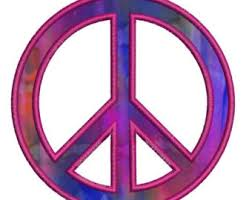 peace embroidery etsy