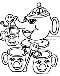 tea party coloring page 305913