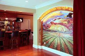murals svetlana shorey the owners of this spectacular house george and robin asked me to decorate a few wall niches above are images of a mural in their wine cellar bar and