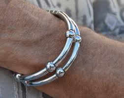 man silver bangle bracelet images Mens silver bracelet etsy jpg