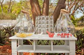 outdoor wedding reception ideas outdoor wedding ideas refreshing lemon and raspberries water to be