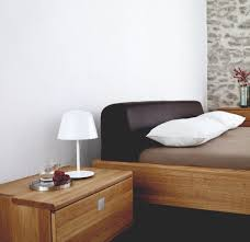Wood Leather Headboard by Team 7 Nox Bed Leather Headboard Leather Headboard And Free