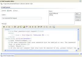 editing a notification template netiq designer for identity