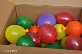 send birthday balloons in a box send a box of balloons with notes money inside each one won