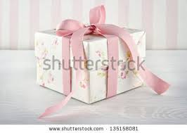 floral gift box floral pattern gift box pink stock photo 135158081