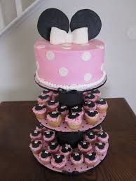 cupcake and cake stand minnie mouse 1st birthday cake stand