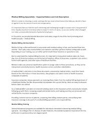 Medical Biller Job Description Resume by 17 Resume Expected Salary Sample Counter Offer Job Letter